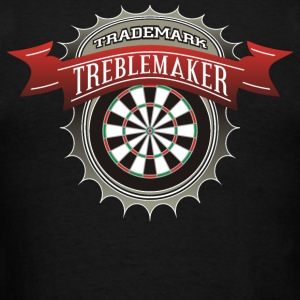 Dart Player and Trademark Treblemaker - Men's T-Shirt