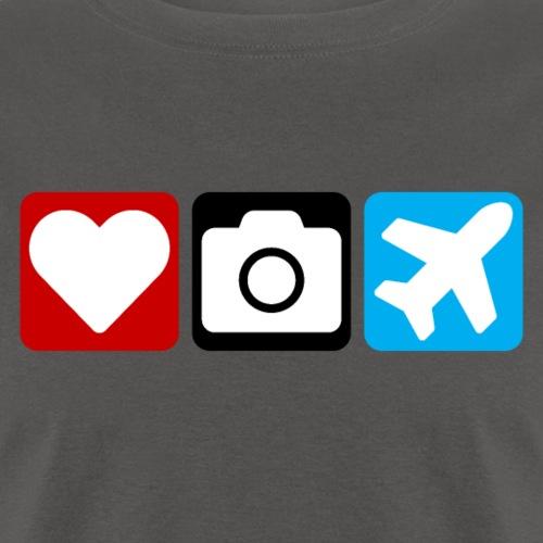 Heart Camera Airplanes - Men's T-Shirt