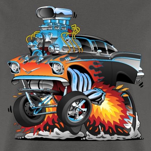 Classic hot rod 57 gasser dragster car cartoon - Men's T-Shirt