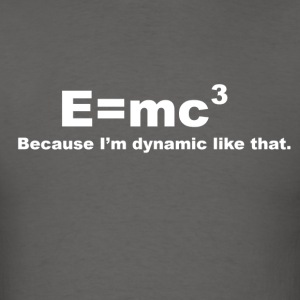Einstein Formula Spoof White Logo - Men's T-Shirt