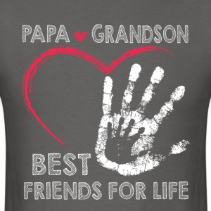 Papa and grandson best friends for life - Men's T-Shirt