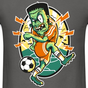 Frankenstein-plays-soccer-ball-cartoon - Men's T-Shirt