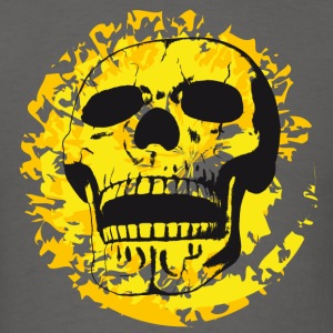Skull on color patches - Men's T-Shirt