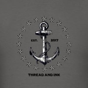 Vintage Nautical Anchor and Stars. Traditional tee - Men's T-Shirt