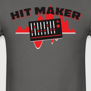 Hit Maker Producer Mixing Board Volume Sound Waves - Men's T-Shirt