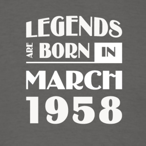 Legends are born in March 1958 - Men's T-Shirt
