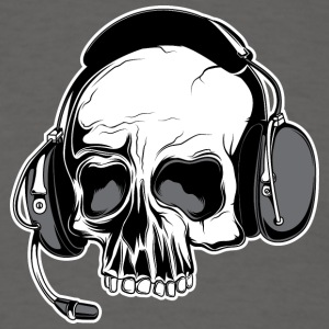 skull_with_headphones - Men's T-Shirt