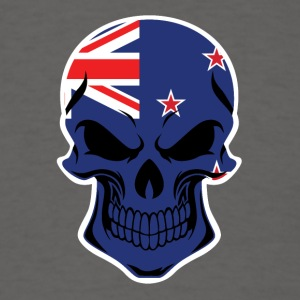New Zealand Flag Skull - Men's T-Shirt