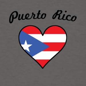 Puerto Rico Flag Heart - Men's T-Shirt