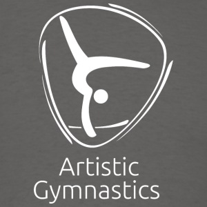 Artistic_gymnastics_white - Men's T-Shirt