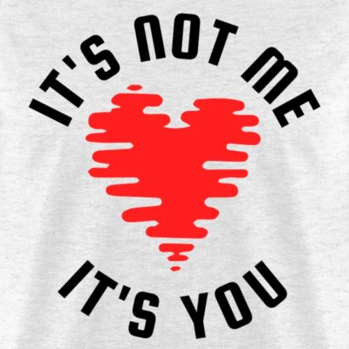 It's Not Me | Black Red - Men's T-Shirt