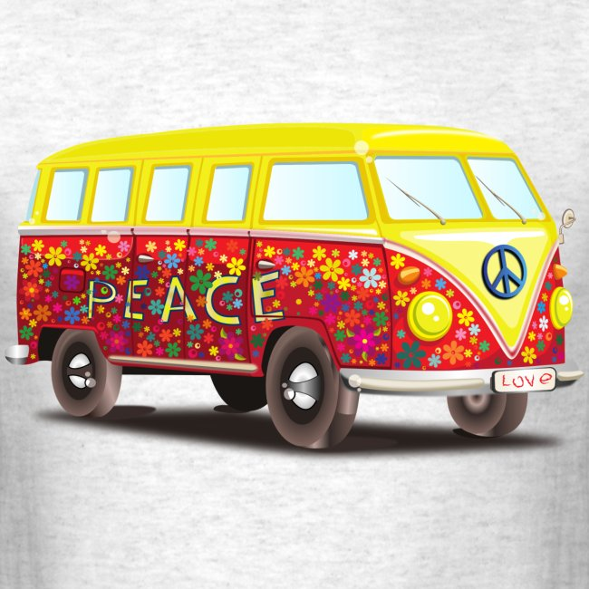 hippie peace and cool fun awesome illustration
