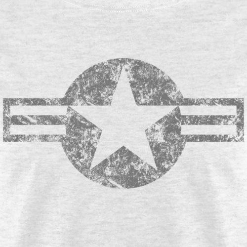USAF Roundel (Low Vis) - Weathered - Men's T-Shirt