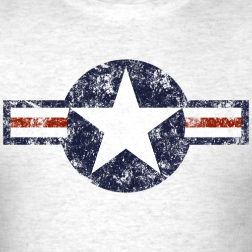 USAF Roundel - Weathered - Men's T-Shirt