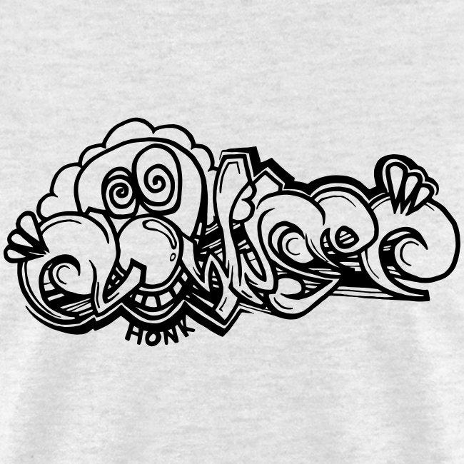 Clownsec Graffiti BW