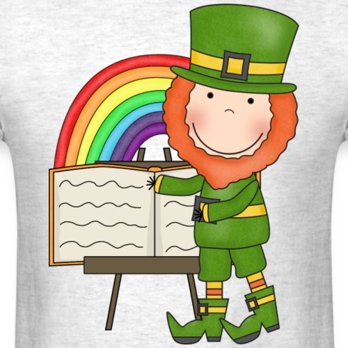 Lucky Leprechaun Readers6 png - Men's T-Shirt
