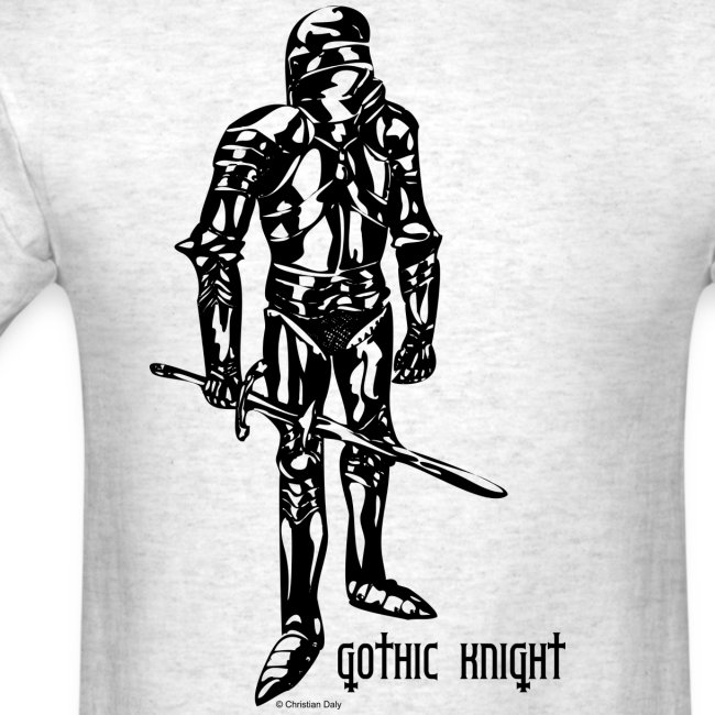 Gothic Knight Standard Mens T-shirt