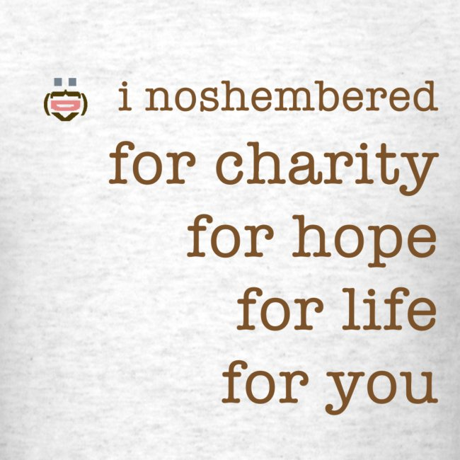 noshember for charity png
