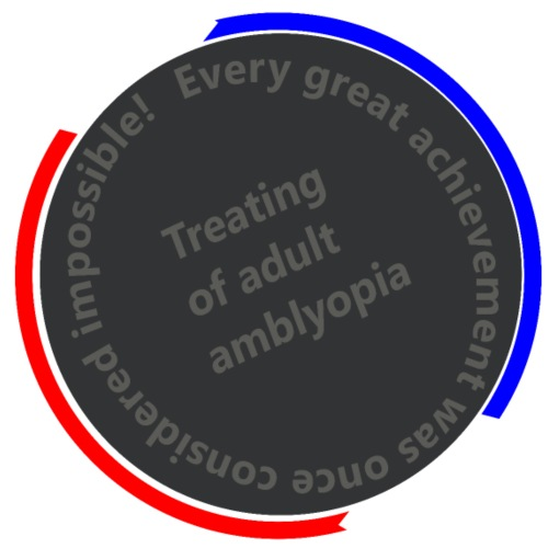 Treating Adult Amblyopia - Men's T-Shirt