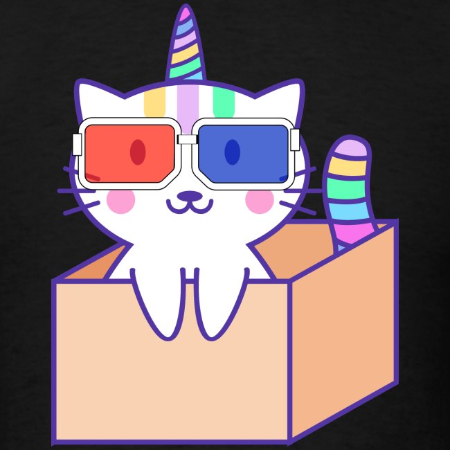 Unicorn cat with 3D glasses doing Vision Therapy!