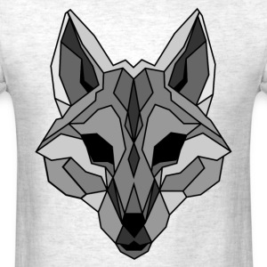 Lineart of a wolf / wolf gray - Men's T-Shirt