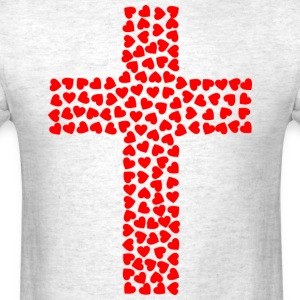 Cross with hearts - Men's T-Shirt