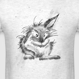 rabbit cute funny love eastern girl grawing lol an - Men's T-Shirt