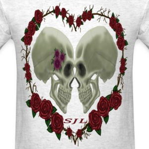 LOVE SKULLS ROSES - Men's T-Shirt