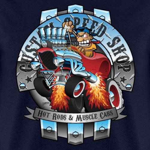 Custom Speed Shop Hot Rods and Muscle Cars Illustr - Men's T-Shirt