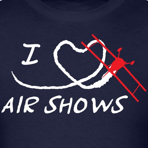 I Heart Airshows (White Text) - Men's T-Shirt