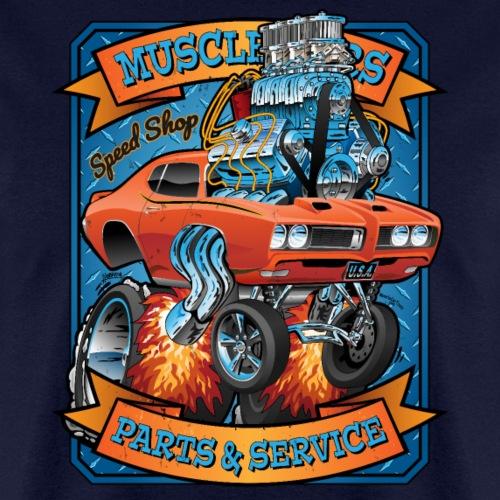 Classic Sixties Muscle Car Parts & Service Cartoon - Men's T-Shirt