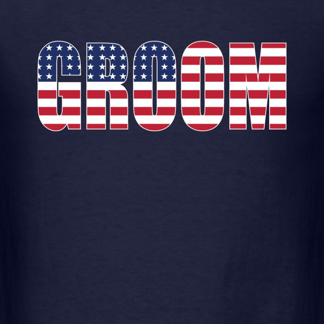 Groom US Flag