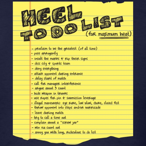 Heel To Do List - Men's T-Shirt