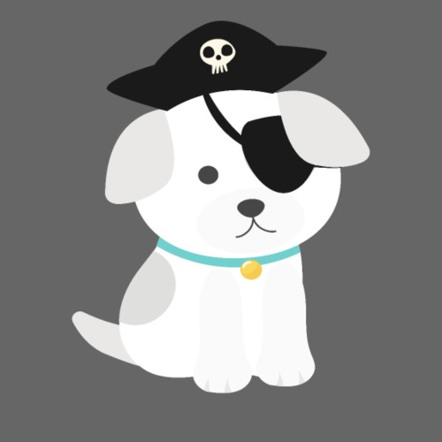 Dog with a pirate eye patch doing Vision Therapy! - Men's T-Shirt