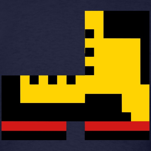 Pixel Boot VECTOR small - Men's T-Shirt
