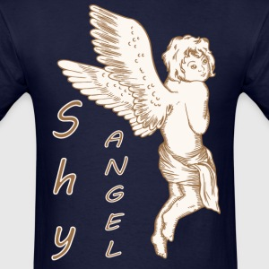 Shy Angel with Wings - Men's T-Shirt