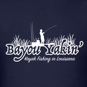 Bayou Yakin' Logo in White - Men's T-Shirt