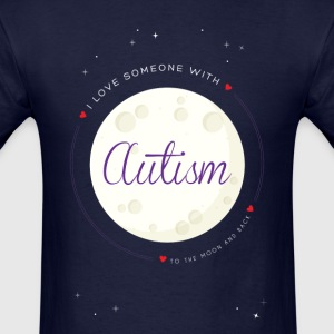 Autism to the moon and Back - Men's T-Shirt