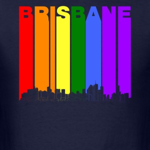 Brisbane Australia Skyline Rainbow LGBT Gay Pride - Men's T-Shirt