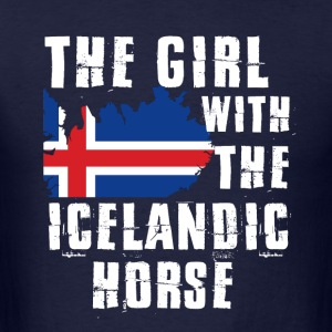 The girl with the iclandic horse - Men's T-Shirt
