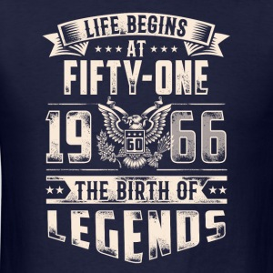 Life Begins At Fifty One Tshirt - Men's T-Shirt