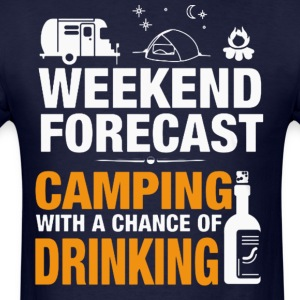 CAMPING HOLIDAY , DRINKING T-Shirt - Men's T-Shirt