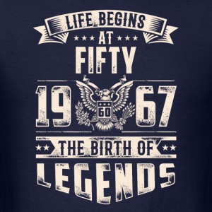 Life Begins At Fifty Tshirt - Men's T-Shirt