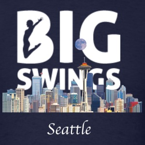 Seattle Skyline Big Swings Logo - Men's T-Shirt