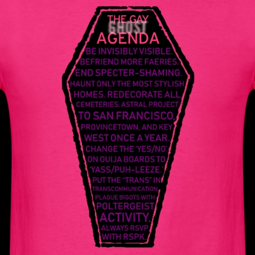 Gay Ghost Agenda - Men's T-Shirt