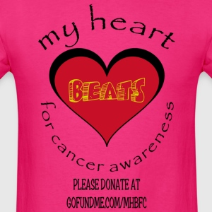 My Heart Beats For Cancer Awareness - Men's T-Shirt