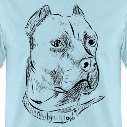 Dog Head | Black - Men's T-Shirt