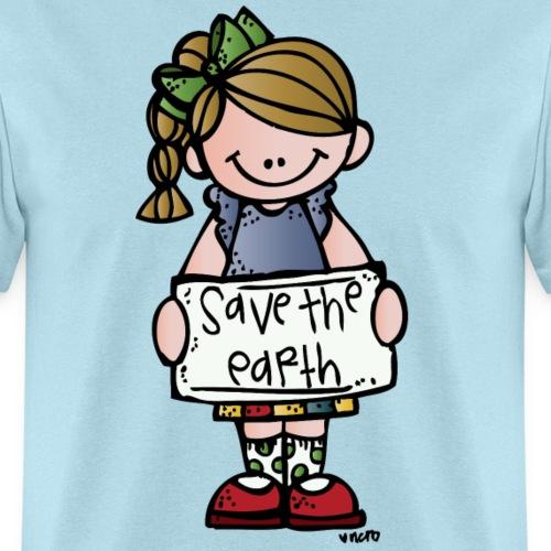save girl c melonheadz 13 colored png - Men's T-Shirt