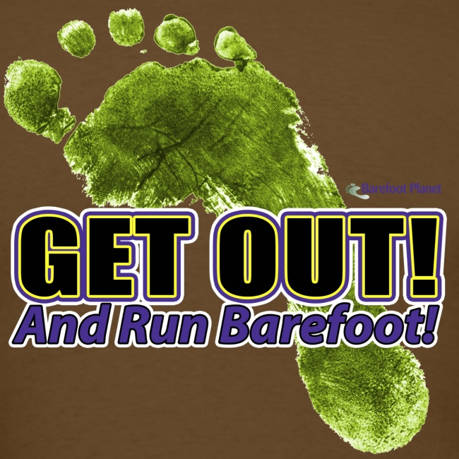 Get Out & Run Barefoot Women's T-Shirts