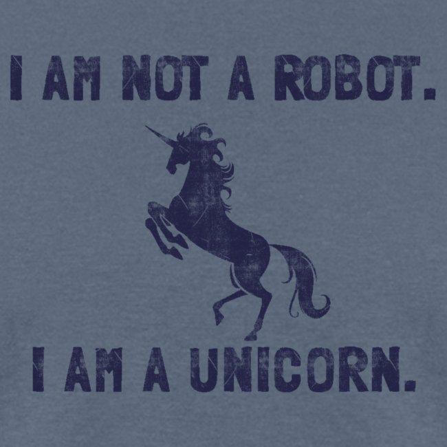 unicorn tall dark blue